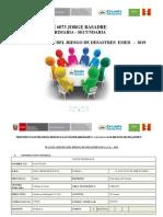 PLAN DE GRD  EMED PRIMARIA SECUNDARIA  N°  6073 Jorge basadre  - 2019