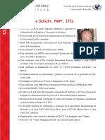 Ing. Claudio Schicht, PMP, ITIL