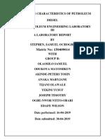 DISTILLATION CHARACTERISTICS OF PETROLEUM DIESEL