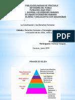 República Bolivariana de Venezuela La Constitución y los Derechos Humanos