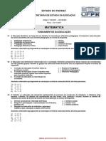 Prova de Matemática Seed 2013