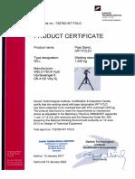 Underskrevet WT FOLD 1500 Kg UK