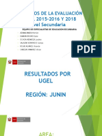 Resultados de La Evaluación Censal 2015-2016 y 2018