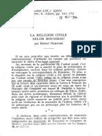 Religion civile Robert Derathé