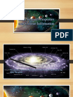Final Solar System's Properties and Current Information