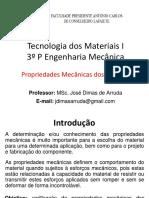 03 - TM1 - Propriedades Mecânicas Dos Metais