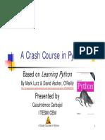 Crash Course Python Part i