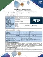 Guía de actividades y rubrica de evaluación Tarea 5 - Desarrollar ejercicios de Funciones, Trigonometria y Hipernometria