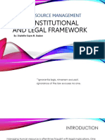 The Constitutional Legal Framework