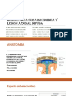 Hemorragia Subaracnoidea y Lesion Axonal Difusa