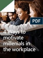 4 ways to motivate milenials