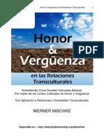 Honor y Verguenza en Las Relaciones Transculturales