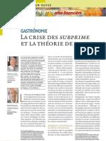 Revue Banque - Crise Des Subprimes