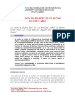 Reactivo de Kovac modificado