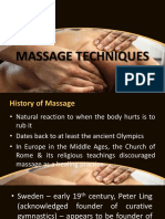 Massage topic for PT 1st years
