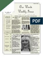 Newsletter Volume 10 Issue 22