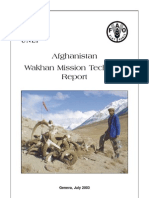 Wakhan Mission Technical Report