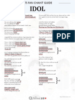 Bts Idol Lyrics Fanchant