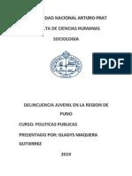Gladys Maquera Gutierrez- Politicas Publicas