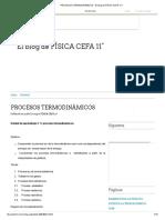 PROCESOS TERMODINÁMICOS - El blog de FÍSICA CEFA 11°