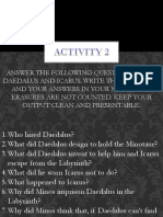 Daedalus and Icarus Activity