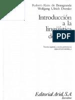 De Beaugrande Robert Alain Y Ulrich Dress Wolfgang - Introduccion A La Linguistica Del Texto.pdf