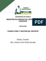ANTOLOGIA consultoria y gestion deportiva