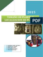Tamaño de Planta Trabajo Ppt Lastra - Monigote