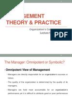 Lecture 3 Organization's Culture (1)