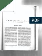 Woodrow Wilson - Se debe salvar el mundo en pro de la democracia.pdf