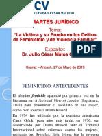 Ponencia Víctima Prueba Delito Feminicidio y Violencia Familiar