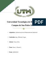 Yansy Silva Administracion Del Mantenimiento Tarea 3 Parcial 2 UTH 2019