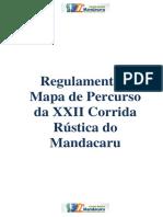 Regulamento Da XXII Corrida Rustica Do Mandacaru 2019 Alterado Nota Oficial N 01
