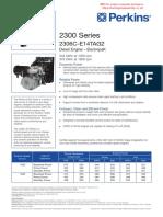 Perkins 2306 Genset Spec Sheet