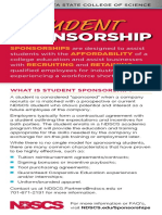 Student Sponsorship Handout NSCS