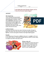 Reading Comprehension Olympic Games