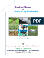 Teaching Manual - Introductory Crop Production