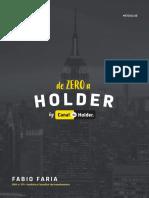 001 - Ementa - De Zero a Holder - 2ª Turma