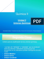 Uniones Químicas Presentación en Ppt