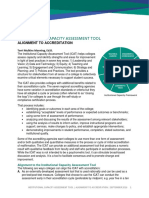 Institutional Capacity Assessment Tool - Alignment to Accreditation 2