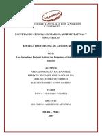 Operaciones Bancarias y Sistema Financiero