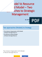 Two Approaches to Strategy