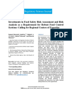Investments in Food Safety Risk Assessment and Risk Analysis as a Requirement for Robust Food Control Systems