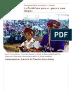 Instrumentum Laboris do Sínodo Amazônico.PDF.pdf