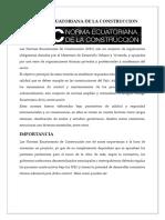 Normas Ecuatoriana de Construcción