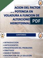 Optimizacion Del Factor de Potencia en La Voladura a Funcion de Alterciones Hidrotermales