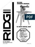 Ridgid Saw Instructions