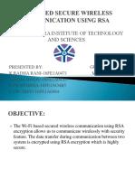 Wifi Based Secure Wireless Communication Using Rsa