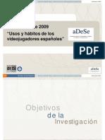 Presentación del estudio Usos y hábitos de los videojugadores españoles ADESE