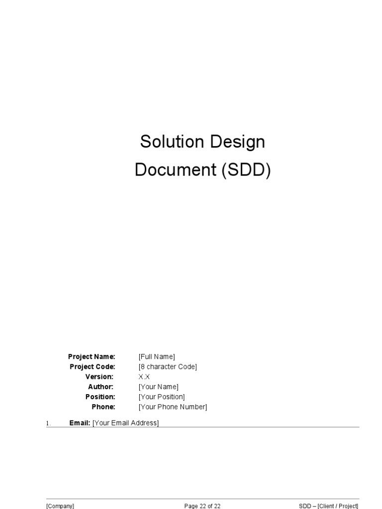 03 Sdd Solution Design Document System Computer Network